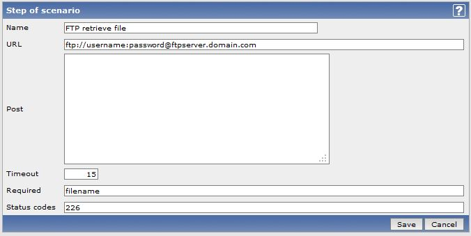Zabbix – use web monitoring for FTP check | mypoorbraindump